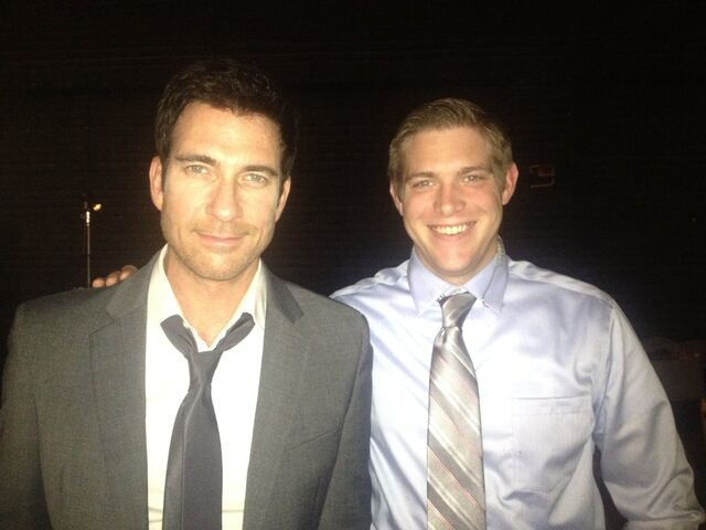 File:OHF actor Cody Daniel on-set (Plays a guy located behind Melissa Leo).jpg