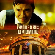 OHF- alternate movie poster with Rick Yune's Kang character on display