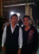 OHF- Steve Kim on-set with Rick Yune pic 2