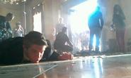 Cody Daniel on-set of OHF
