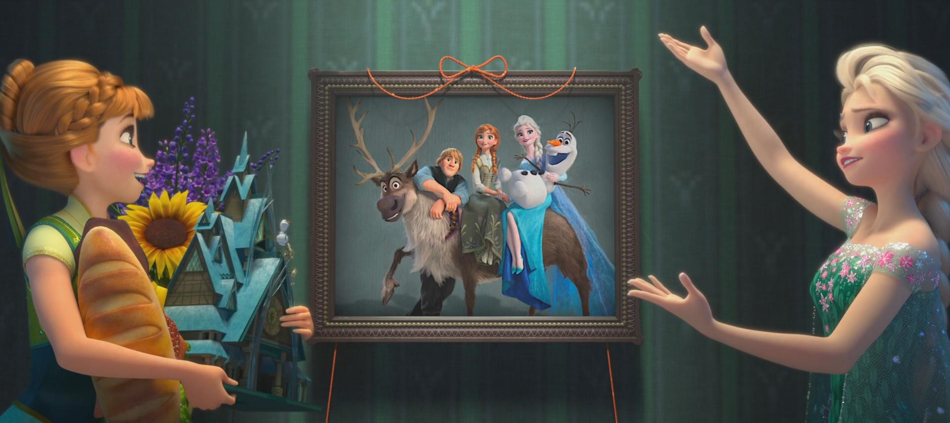 Image la reine des neiges une f te givr e anna elsa - Elsa la reine ...