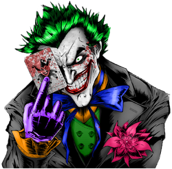 Joker black and white colored in ps by zerods111-d5ryjiq