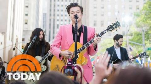 Harry Styles Perform 'Carolina' Live On The Plaza TODAY