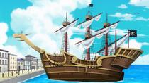 Red Hair Pirates' Old Ship