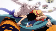 Luffy Kicks Enel