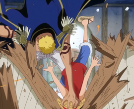 Bellamy Smashes Luffy into the Bar Counter.png