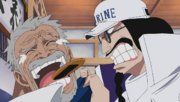 Sengoku Blames Garp For Luffy's Actions