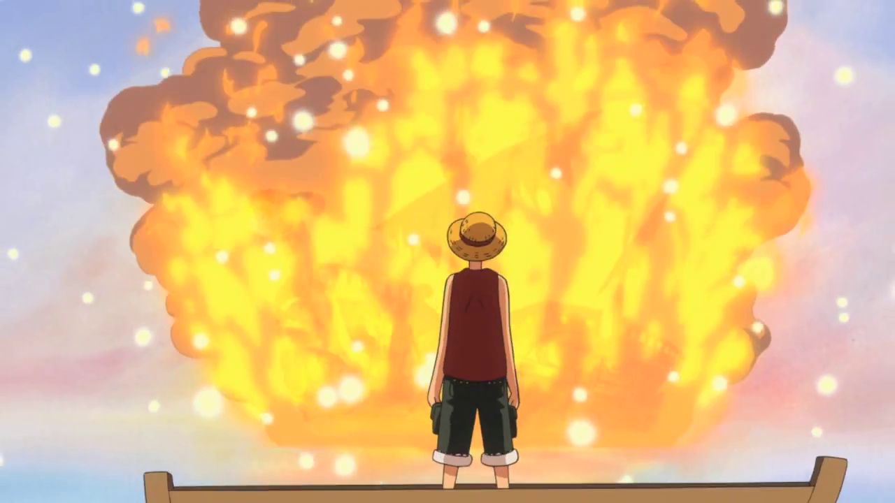 Image - Luffy Says Goodbye to Going Merry.PNG   One Piece ...
