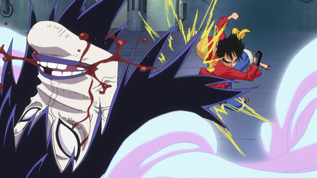 File:Luffy Breaks Caesar's Face in the Anime.png