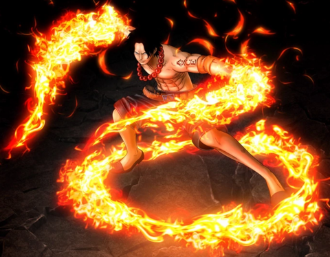 File:One Piece Burning Blood Fire Fist Portgas D. Ace (Artwork).png