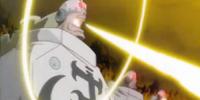 Promień lasera wystrzelony przez Shiro Kuma.
