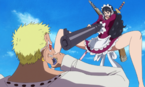 Baby 5 Attacks Doflamingo