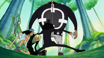 Brook Protecting Usopp and Sanji