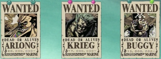File:Krieg, Buggy, and Arlong's Bounty Posters.png