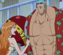 Nami Tells Franky to Use Coup de Burst