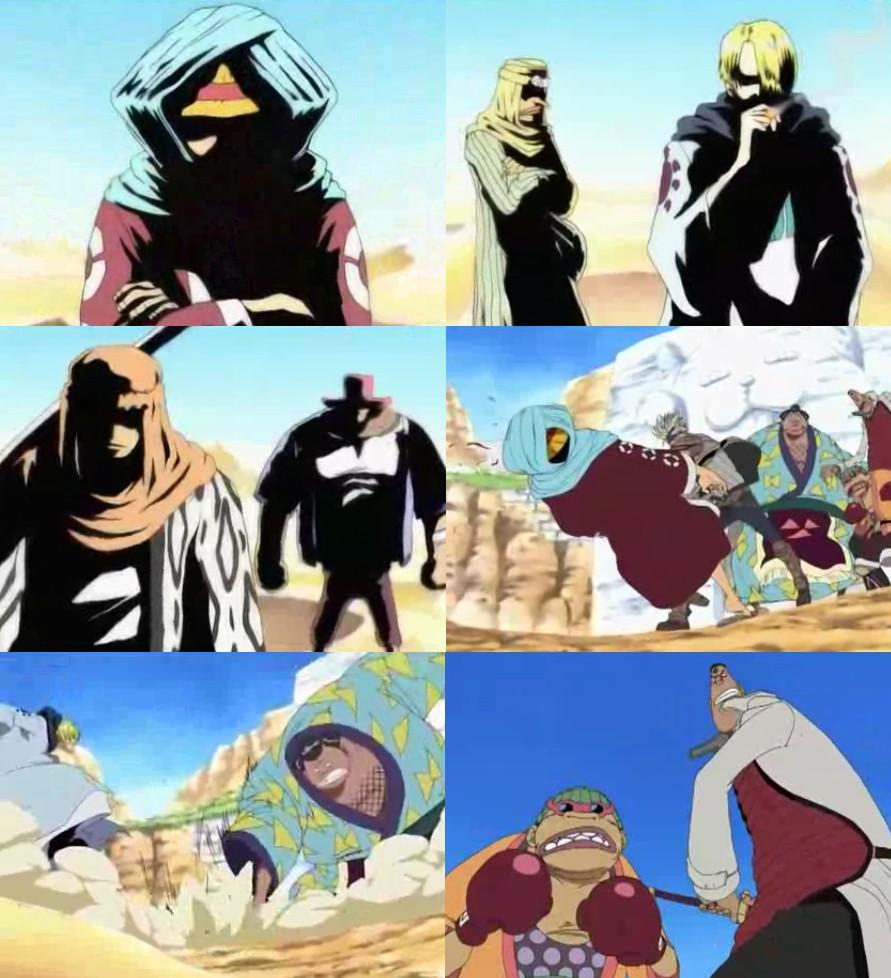 Luffy, Zoro, Usopp, Sanji y Chopper vs. Rebeldes de Kamyu ...  One
