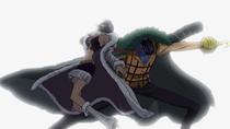 Crocodile Slashes Robin