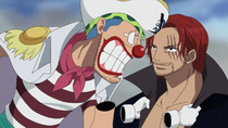 Buggy and Shanks in Marineford