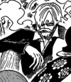 Sanji's Dressrosa Disguise in the Manga.png
