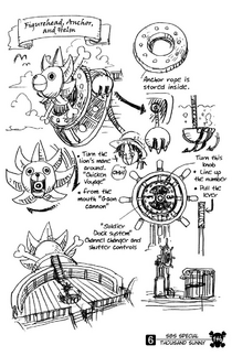 Thousand Sunny's Figurehead, Helm, and Anchors.png