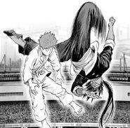Suiryu kicks Saitama down