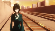 Fubuki walking back