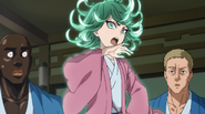 Tatsumaki denies being the murderer