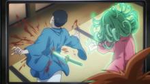 Tatsumaki stabbing Zombieman