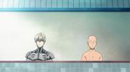 Saitama and Genos bath
