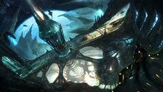 Sci-fi-Art-Alex-Ruiz-The-Drill