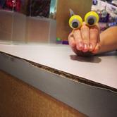 Oobi Hand Puppet - Yellow Googly Eyes