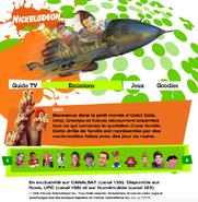 Nickelodeon France 2006 Homepage - Noggin Nick Jr Oobi Uma Kako Grampu Grandpoo