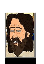 Giant bearded face