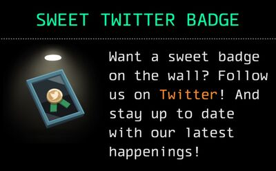 Sweet Twitter Badge