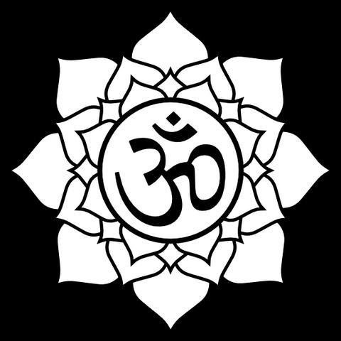 File:Lotus aum black white line art tattoo tatoo flag-555px.png