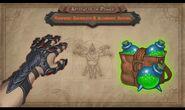 Vampiric Guantlets and Alchemist Satchel