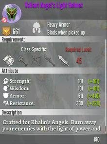 Valiant Angel's Light Helmet