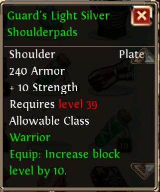 Guards Light Silver Shoulderpads
