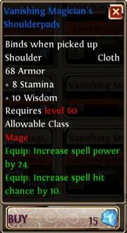 Vanishing Magician's Shoulderpads