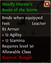 Deadly hunters boots of the storm