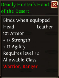 Deadly hunters hood of the desert