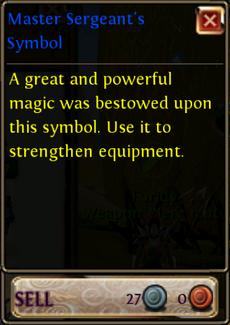 Master-Sergent s-Symbol-Price