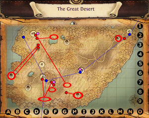 Map the great desert quests