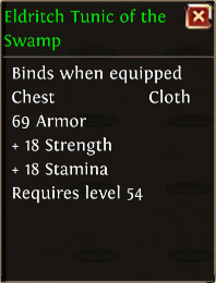 Eldritch tunic of the swamp