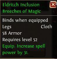 Eldritch inclusion breeches of magic