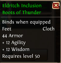 Eldritch inclusion boots of thunder