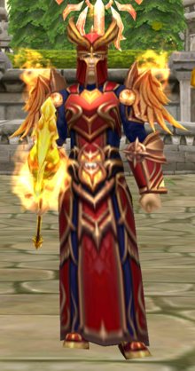 Flame knight human