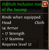 Eldritch inclusion hat of the swamp