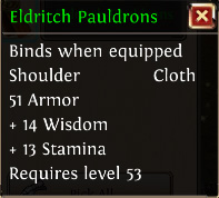 Eldritch pauldrons