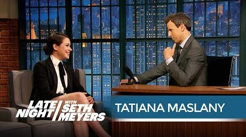 "Orphan Black's Tatiana Maslany on Her Emmy ""Snub"" - Late Night with Seth Meyers"